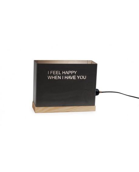 I feel happy...