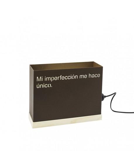 Mi imperfección me hace...