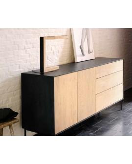 Mueble TV Roble Blackbird 1 Puerta 2 Cajones