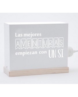 Lámpara Las mejores aventuras empiezan con un si ...